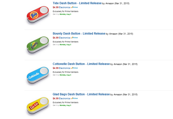 dush buttons от Amazon